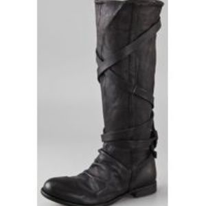 H by Hudson London Patti Wrap Strap Boots